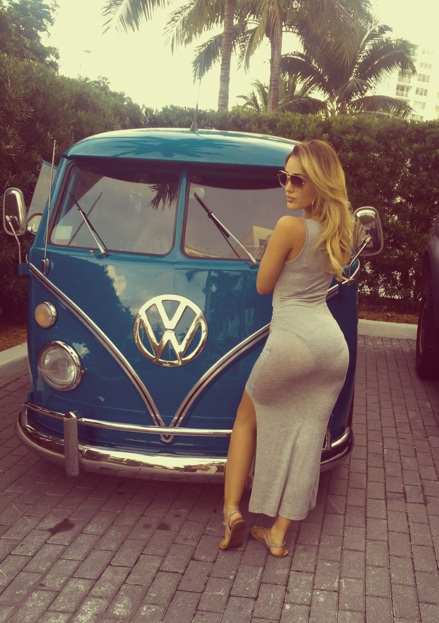 Vw Bus Girl, Hot Hot Hot Cali Sun, Xbrosapparal Vintage -8111