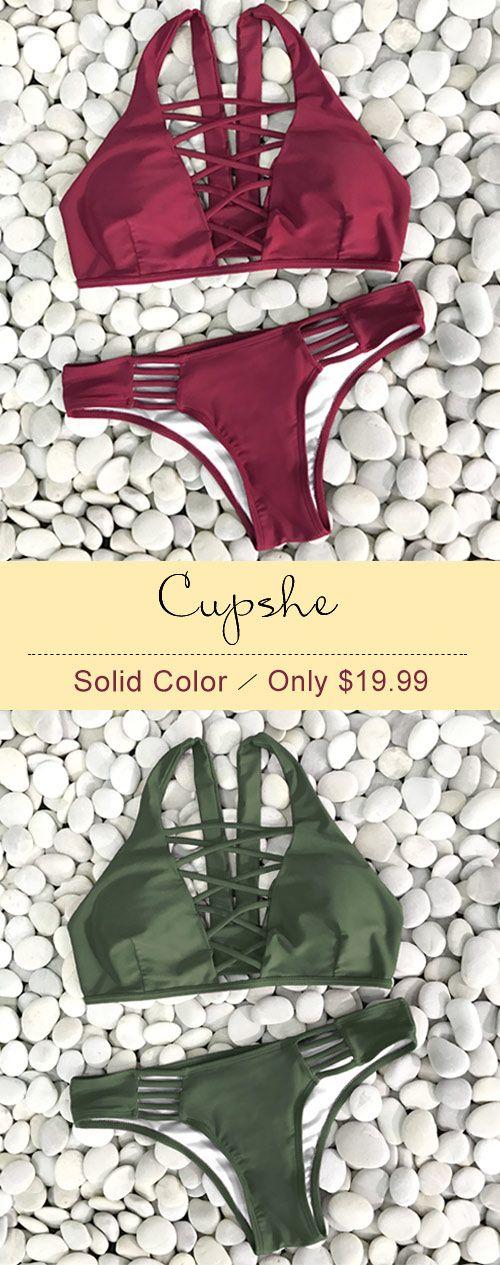 Invite close friends for summer beach~ Cupshe Olive Leaf ...