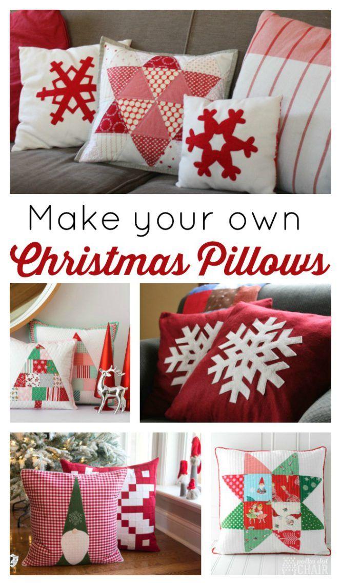 Christmas Pillow Tutorials | Diary of a Quilter - a quilt blog