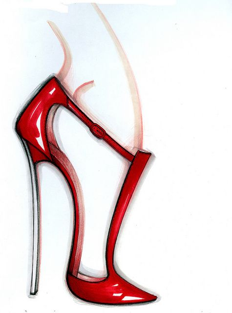 Casadei's Sketch  #Blade in red glossy softymetal
