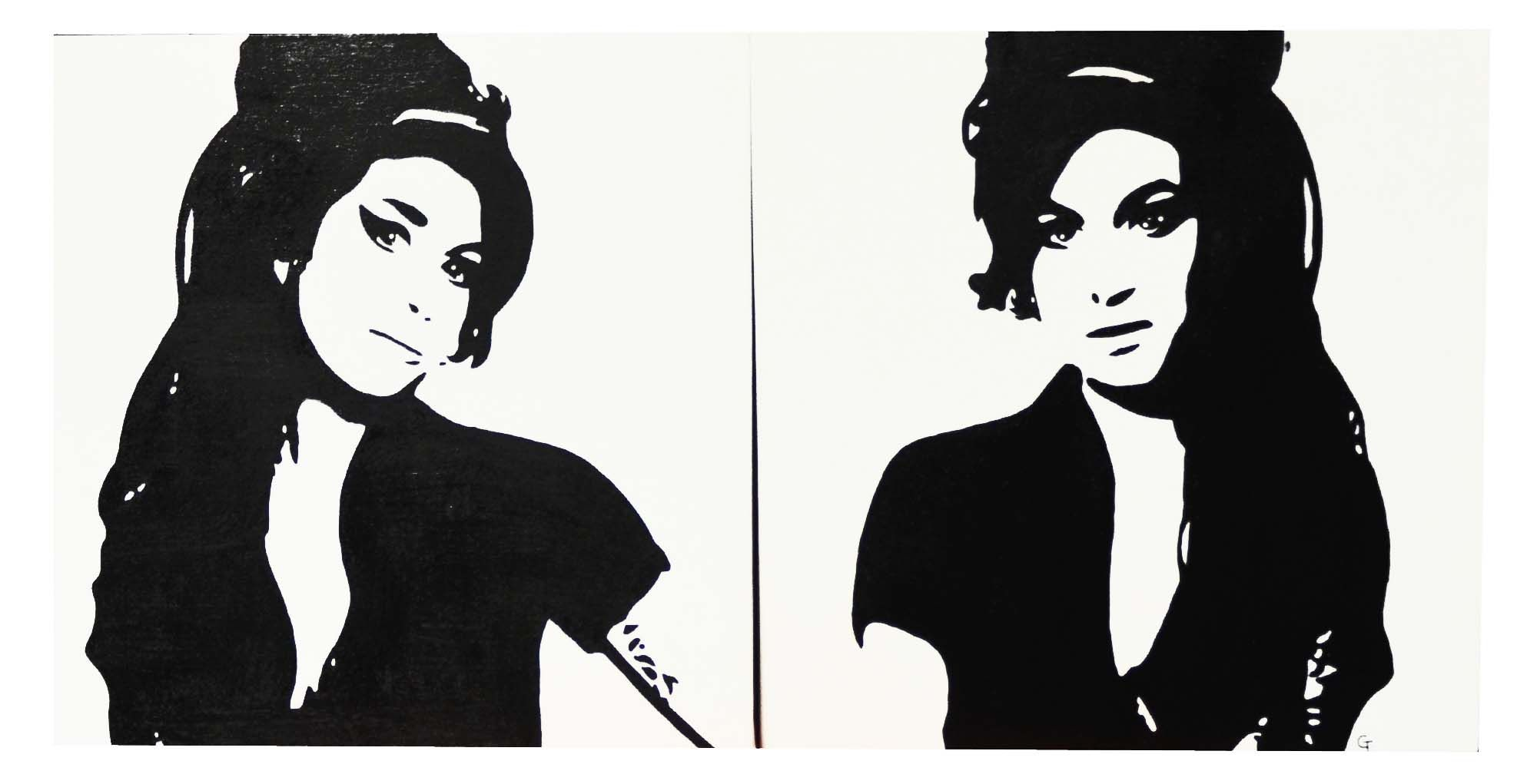 Black And White Amy Winehouse Drawing Google Search Amyyyy Amy