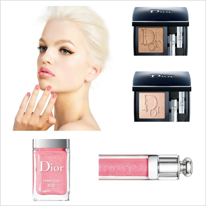 Dior: Diorshow Mono eyeshadows in mordore (653) and ruban (623), Addict Gloss and Vernis in Princess (553)