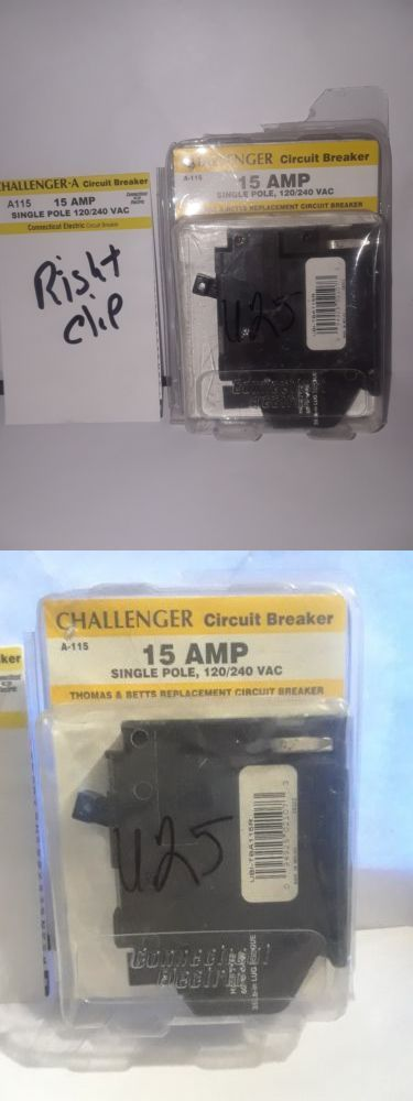 Circuit Breakers And Fuse Boxes 20596 New Challenger A115r Single