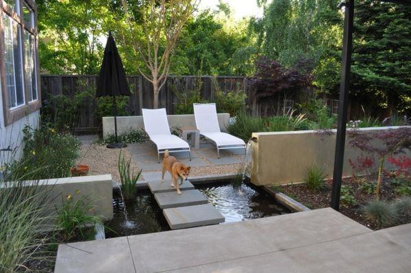 Perfekt Hinterhof Und Die Gartengestaltung Liegestuhl Wald Idee