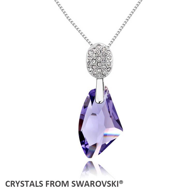 2016 New design! Fashion drop pendant necklace With Crystals from SWAROVSKI good for Valentine's Day gift
