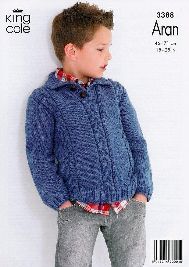 Cabled Sweaters in King Cole Comfort Aran (3388 ...