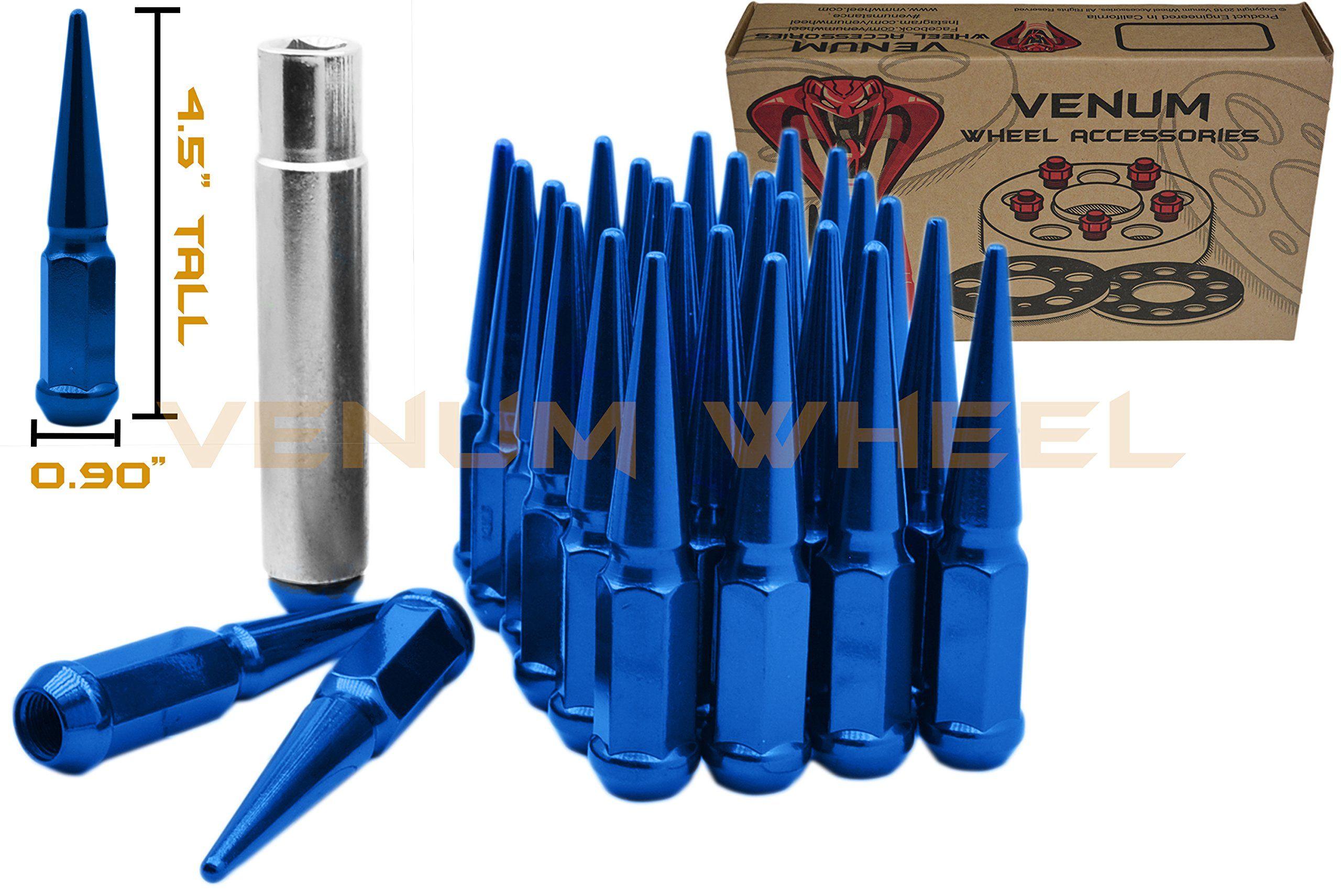 2 KEYS12X1.5FITS MOST HONDA ACURA 16 BLUE SPLINE TUNER RACING LUG NUTS