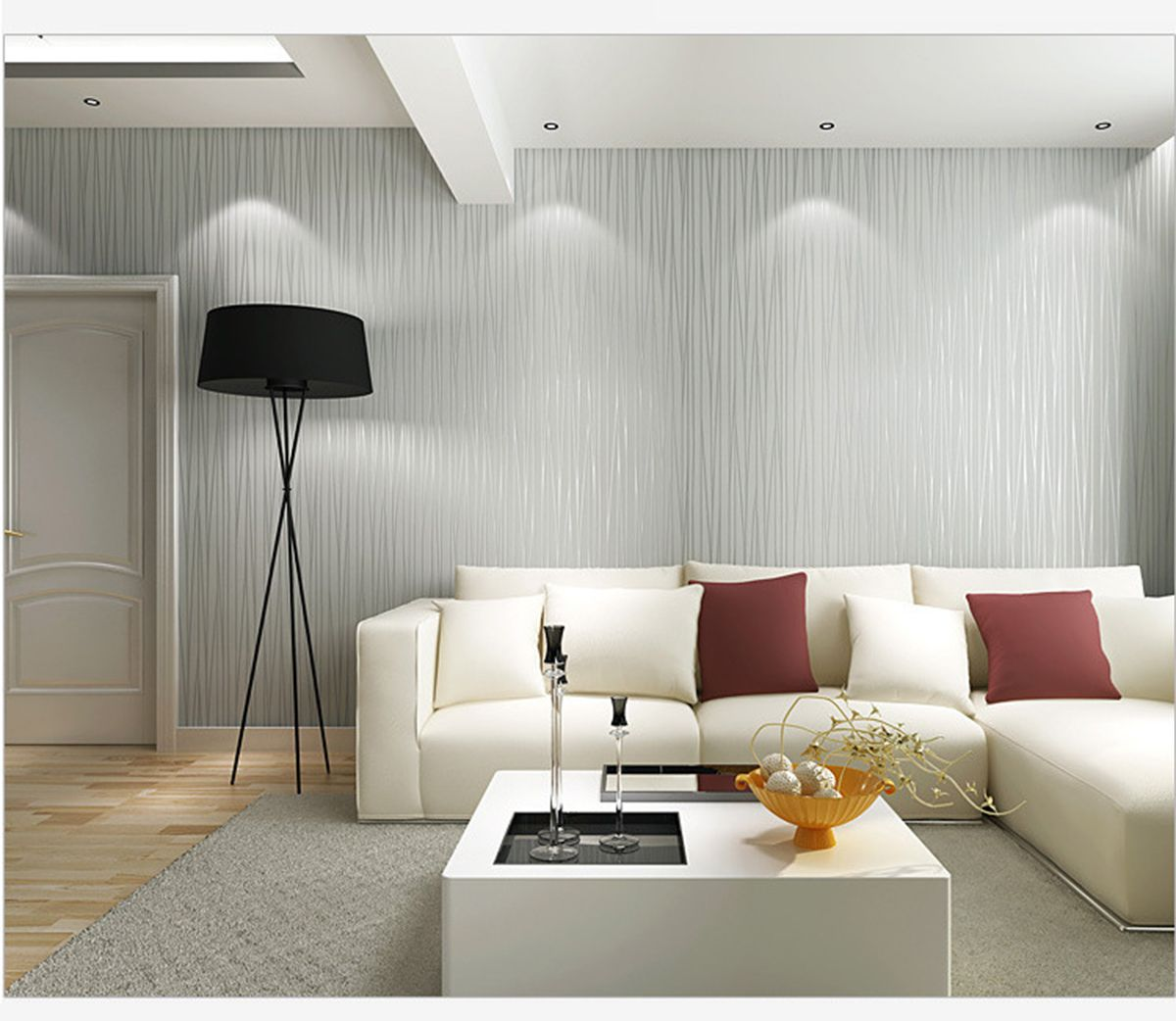 Self Adhesive Nonwoven Flocking Simple Modern Striped Wallpaper For Walls Bedroom Living Room Tv Backgr Living Decor Living Room Tv Striped Wallpaper For Walls
