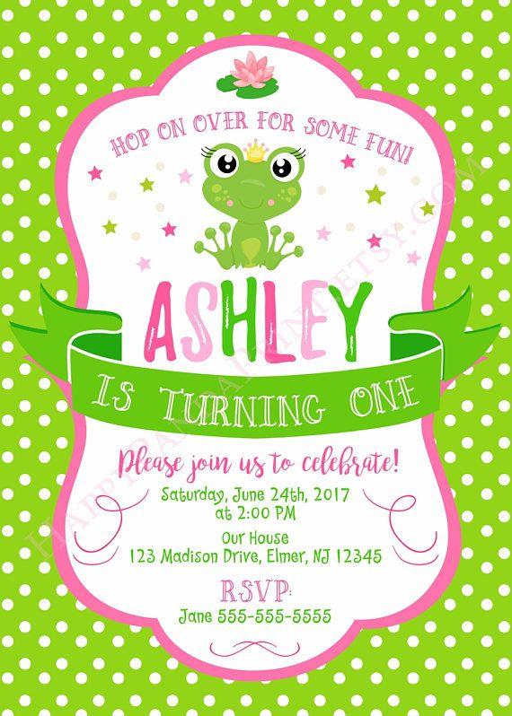 Frog Invitation Birthday 1st