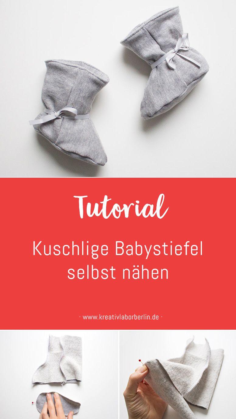 Nähanleitung: Kuschlige Babystiefel selbst nähen – Kreativlabor Berlin