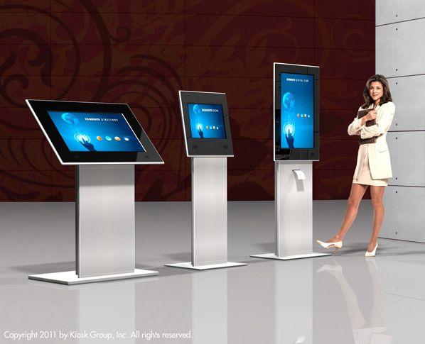 Sleek design kiosks, vertical or horizontal to fit into ...