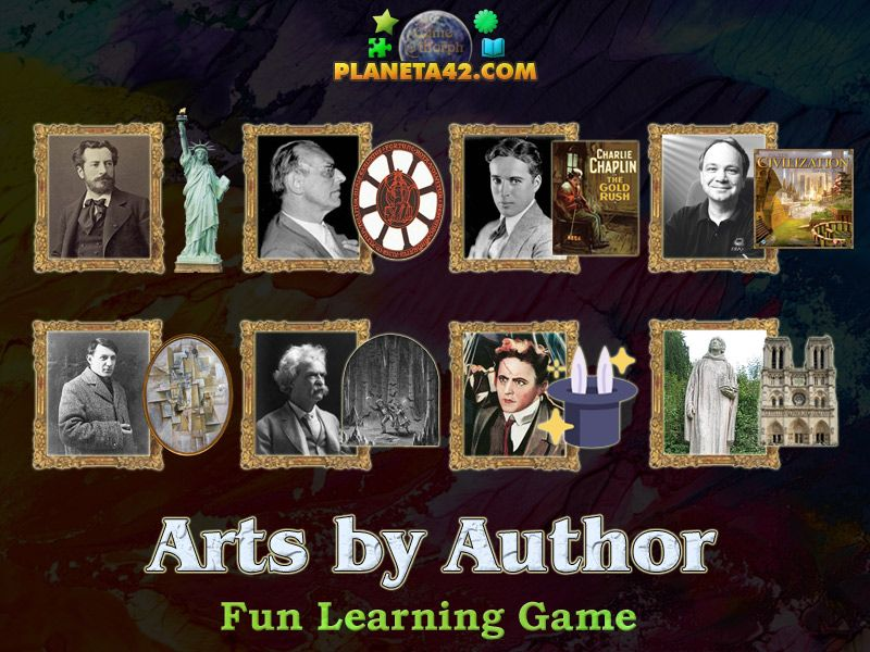 Arts by Author Puzzle Classroom games, Art classroom