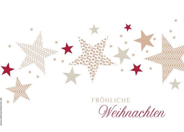 Weihnachtskarte Typografisch Sternschnuppen Geschäftlich Privat