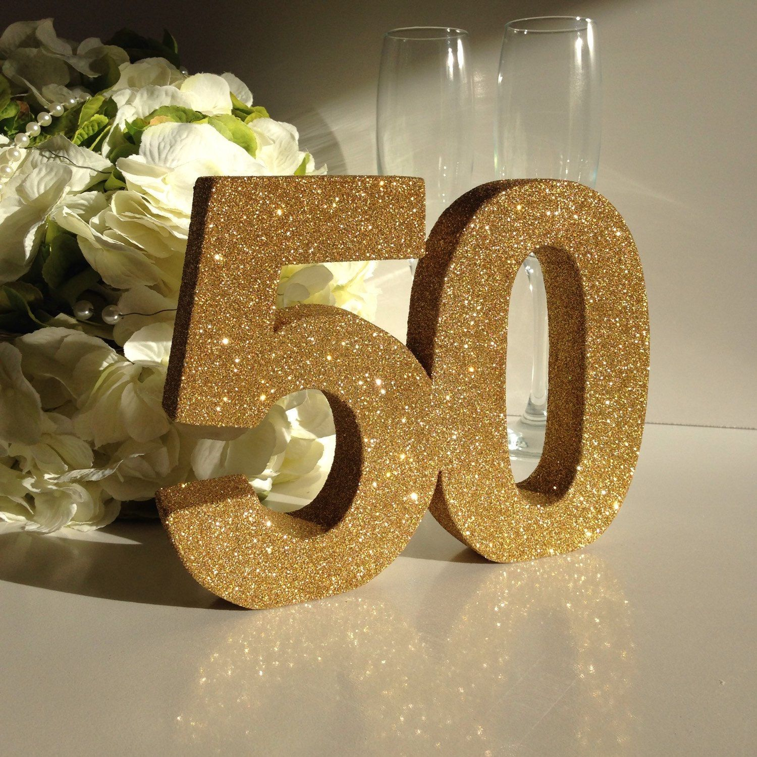 gold 50th birthday party decoration 50th anniversary. Black Bedroom Furniture Sets. Home Design Ideas