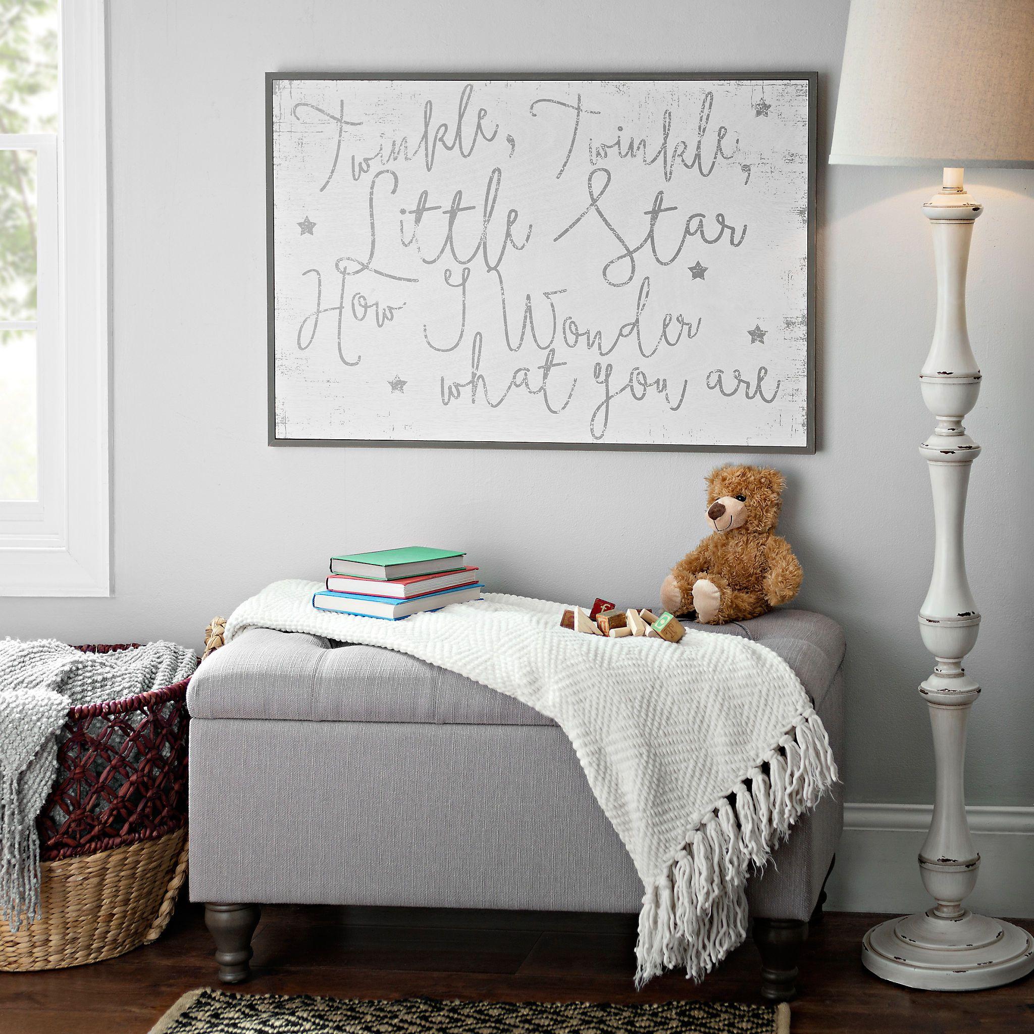 bedroom wall plaques. Twinkle Little Star Wooden Wall Plaque | Kirklands Bedroom Plaques