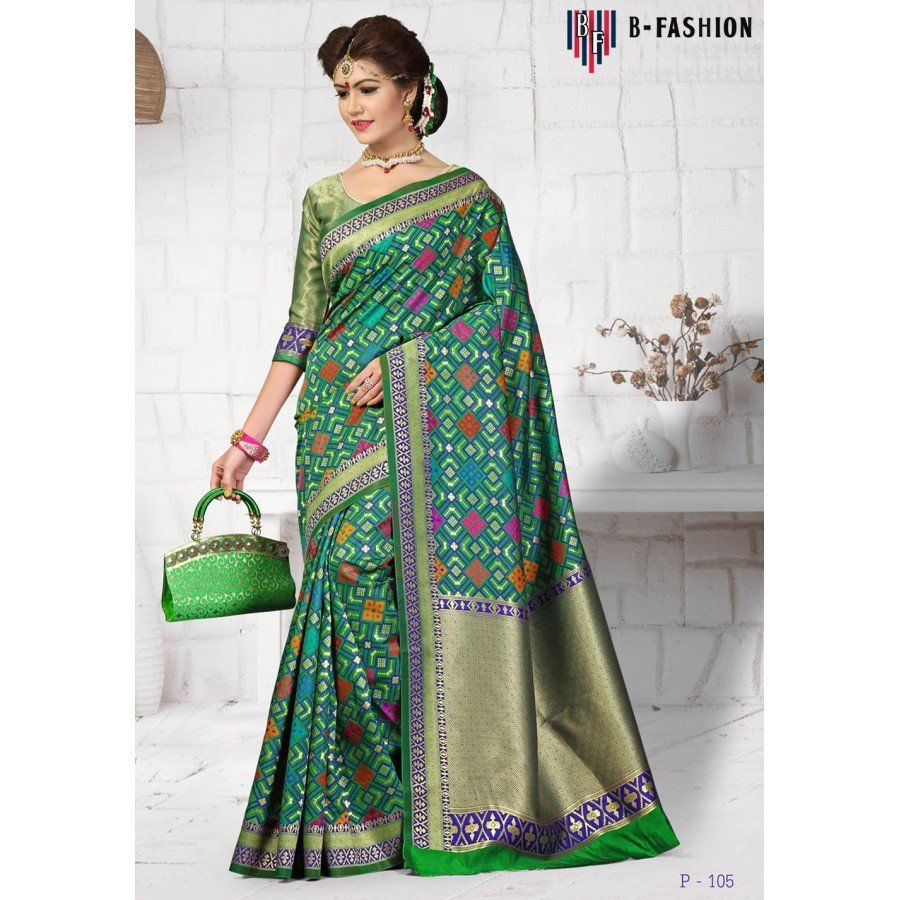 e904fe7c3276a Mordern Green Color Pure Banarasi Silk Sarees at just Rs.3500 - on  www.vendorvilla.com. Cash on Delivery