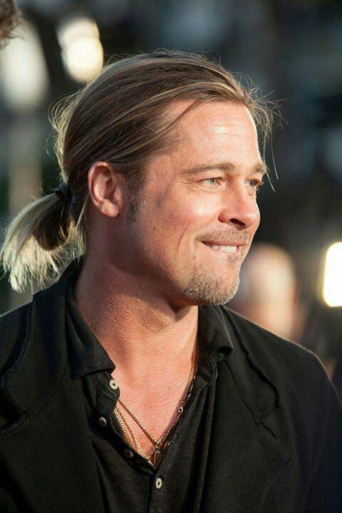 Pin By رشاء سعد On Brad Pitt Long Hair Styles Men Man Ponytail Brad Pitt Hair