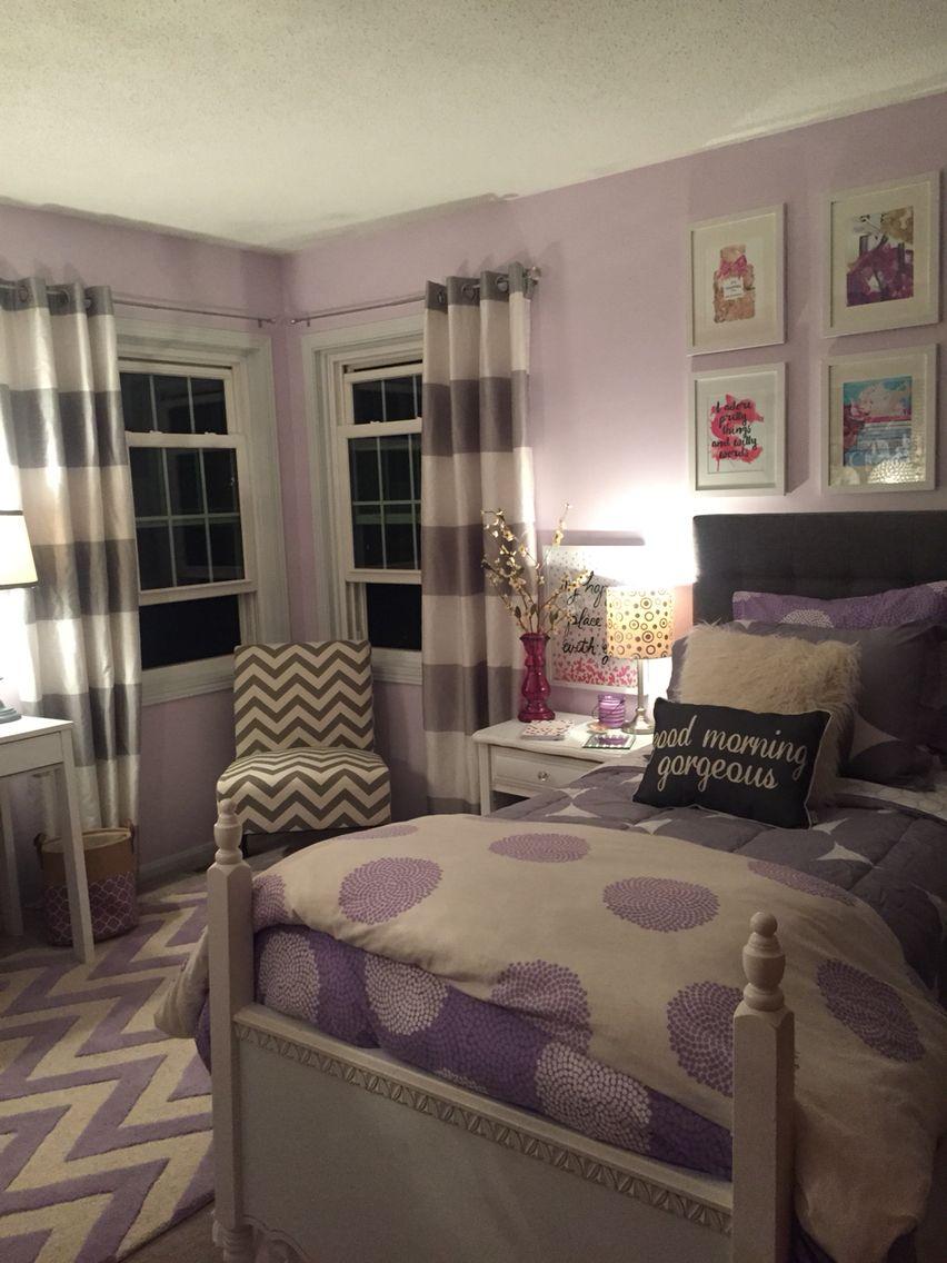 girls bedroom purple