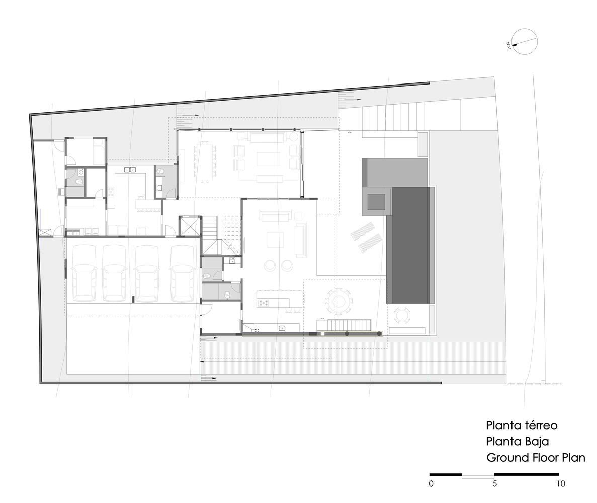 Gallery Of Aa House Dayala Rafael Arquitetura 1 In 2020 Architecture Plan House Ground Floor