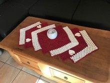 h keln tischl ufer mit herz h ckeln pinterest. Black Bedroom Furniture Sets. Home Design Ideas