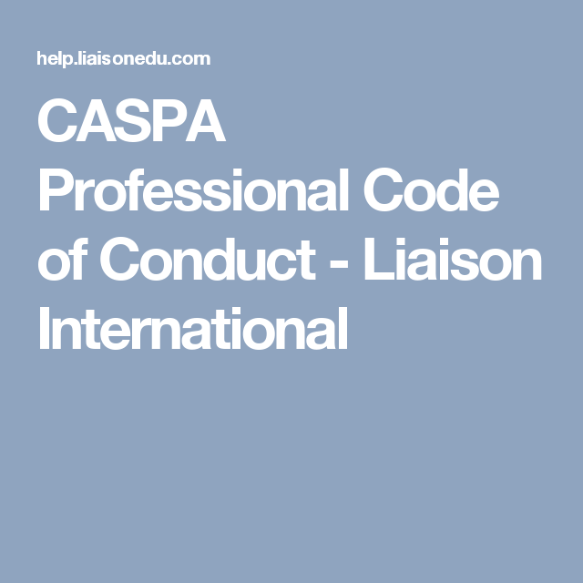 caspa professional code of conduct liaison international