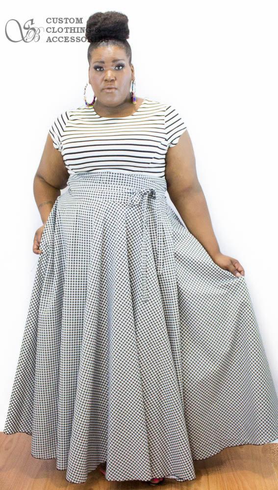 c8bb4fb7ba9 Plus Size High Waist Maxi Skirt   Women plus by aconversationpiece ...