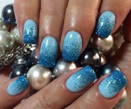31 ideen nägel gel ombre blau makeup  nail ideas blau