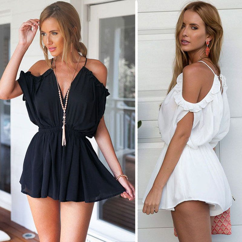 8308b097dad Women Clubwear Summer Playsuit Bodycon Party Jumpsuit Romper Trousers Shorts