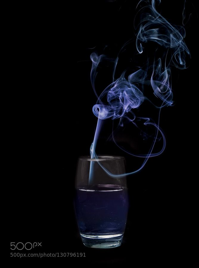 smoke on the water - Pinned by Mak Khalaf https://www.youtube.com/watch?v=F29H8OJOnvo Fine Art blackbluecolor on blackdeep purpleonsmokethewaterwaterglas by WolfgangWerner1