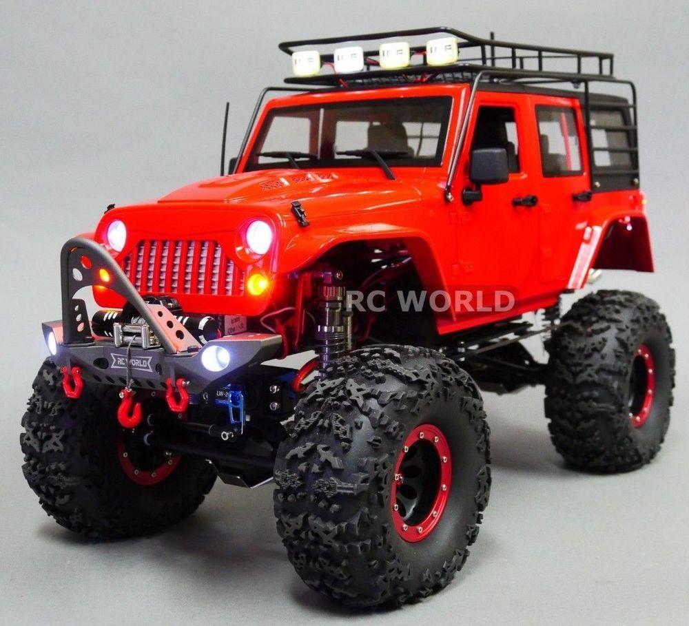 Custom 1 10 Rc Jeep Wrangler Rubicon 4x4 Rock Crawler 11 1v