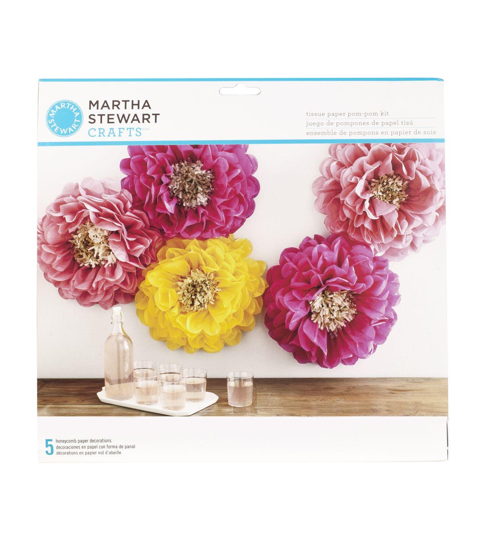 Martha Stewart Tissue Paper Poppy Flower Pom Pom Kitnull