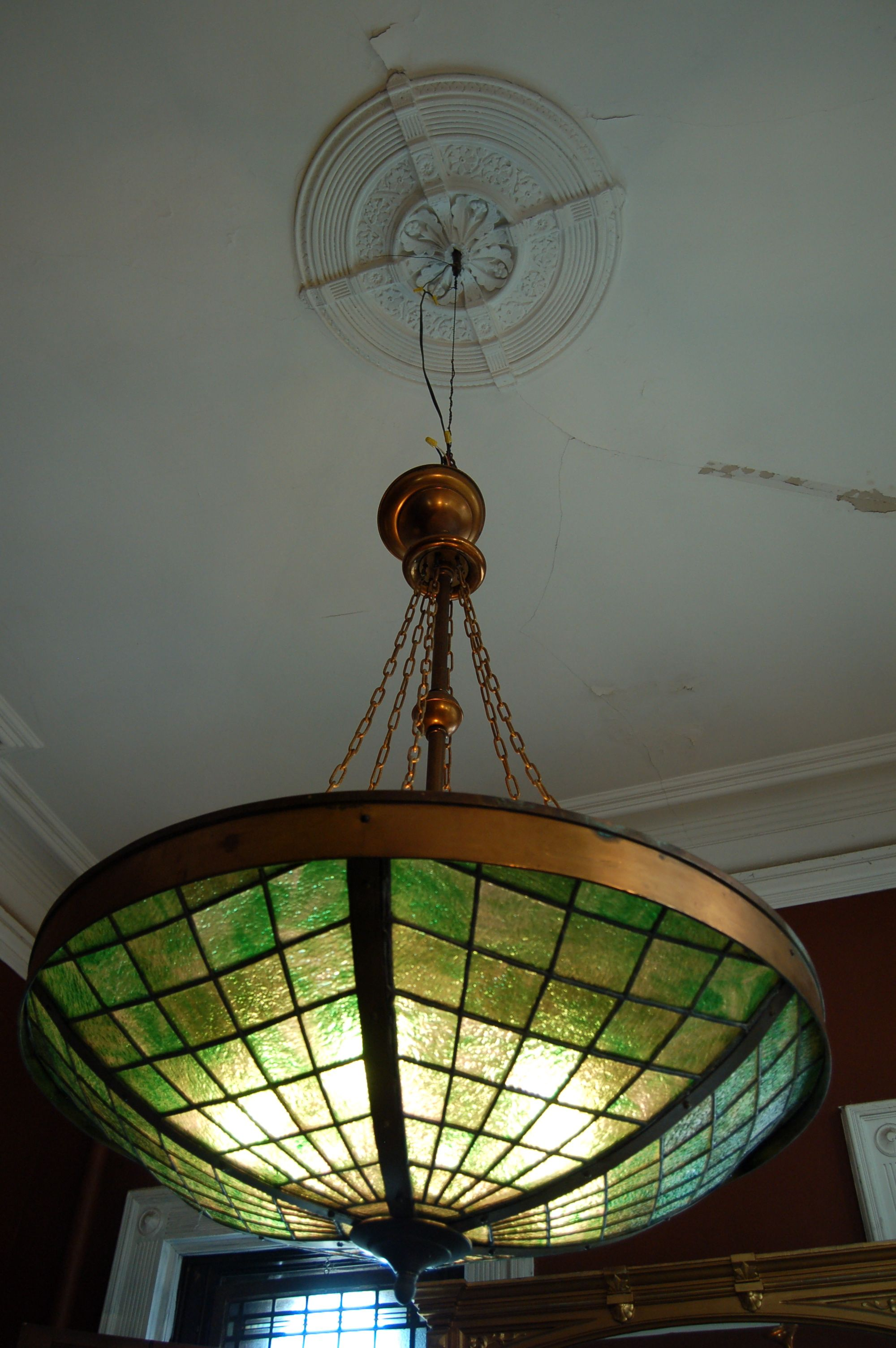 Tiffany Style Chandelier Circa 1920 S