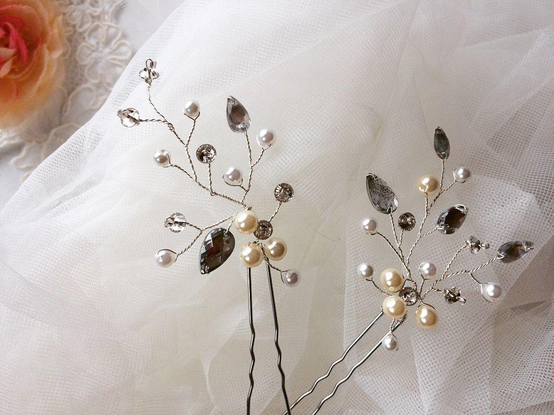 Шпильки для невесты своими руками