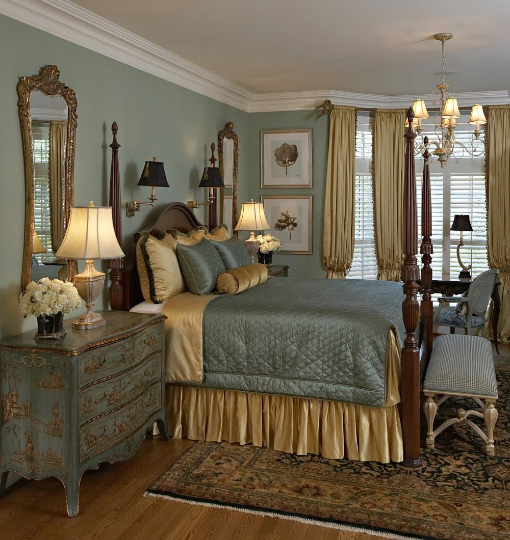 Traditional master bedroom decorating ideas 78 for Rectangular master bedroom