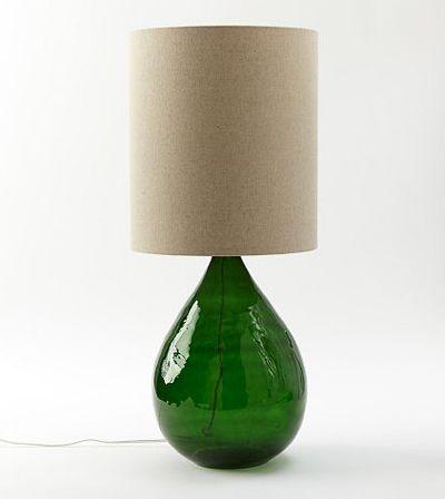 Nice Green Glass Jug Table Lamp