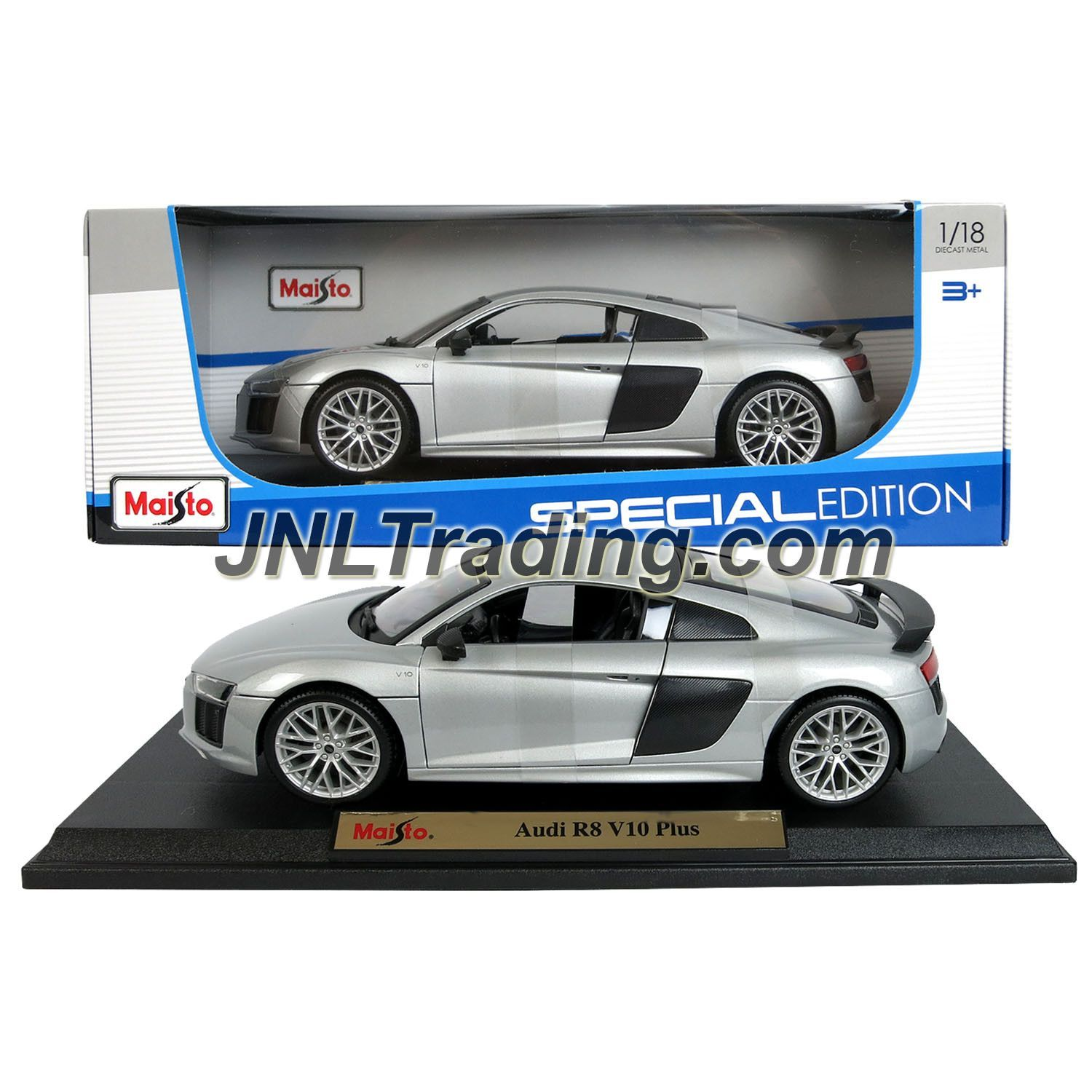 Maisto special edition series 1 18 scale die cast car set silver mid engine