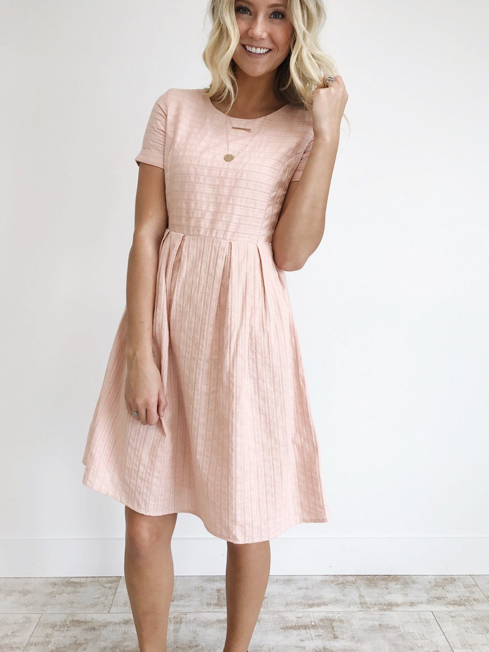 Navy blue dress for spring wedding  Sammi Dress in Blush  ROOLEE  dresses  Pinterest  Clothes