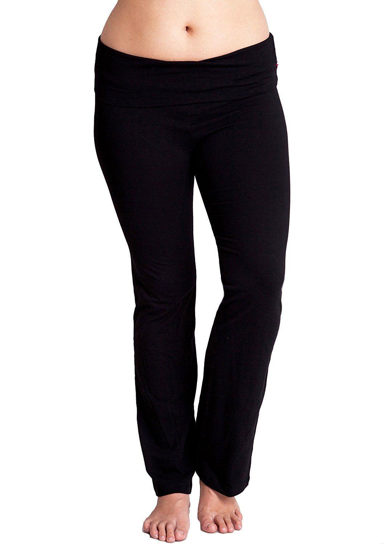 ea412bb5fc3d1 Ladies Plus Size Fold-Over Color Waist Cotton Yoga Pants Multiple Colors  Available Price: $6.99