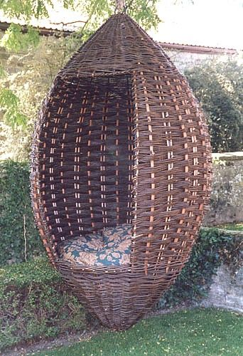 hanging garden pod chair uk white wicker dining chairs willow via kizaki co if you don t want to make one