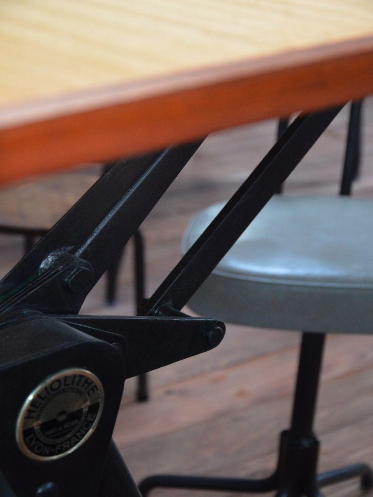Table Dessin Industriel #5: Table Dessin, Table Dessin Industrielle, Mobilier Industriel, Table  Heliolithe, Heliolithe, Table