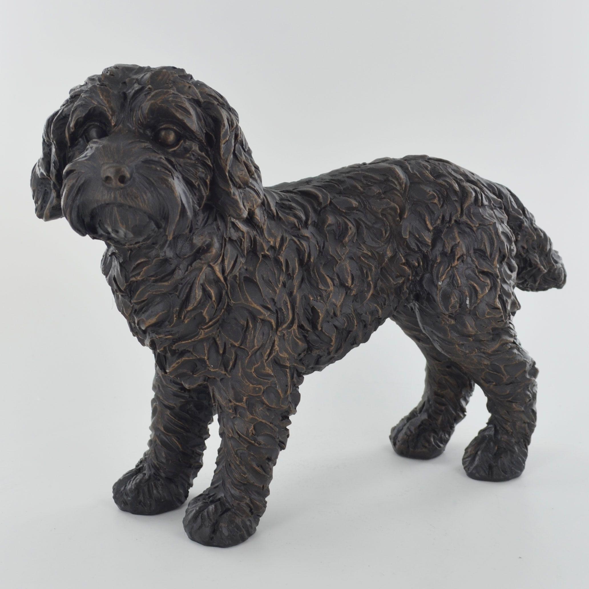Large Cockapoo Cold Cast Bronze Sculpture Cockapoo Dog Sculpture Cockapoo Dog