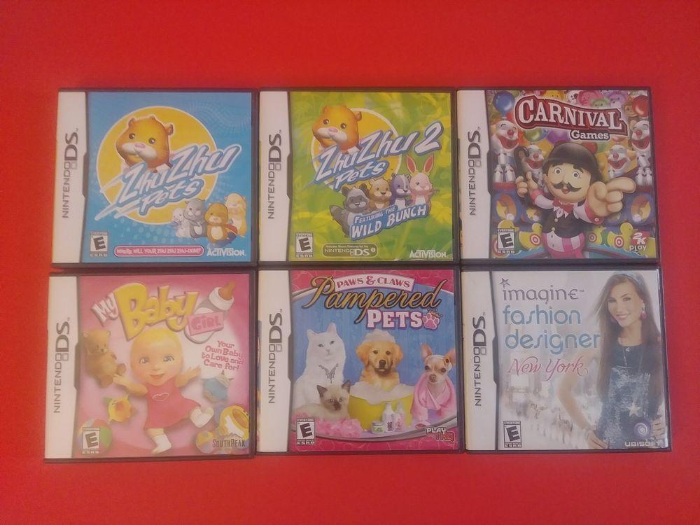 Nintendo Ds Video Game Lot Zhuzhu Pets Pampered My Baby Girl