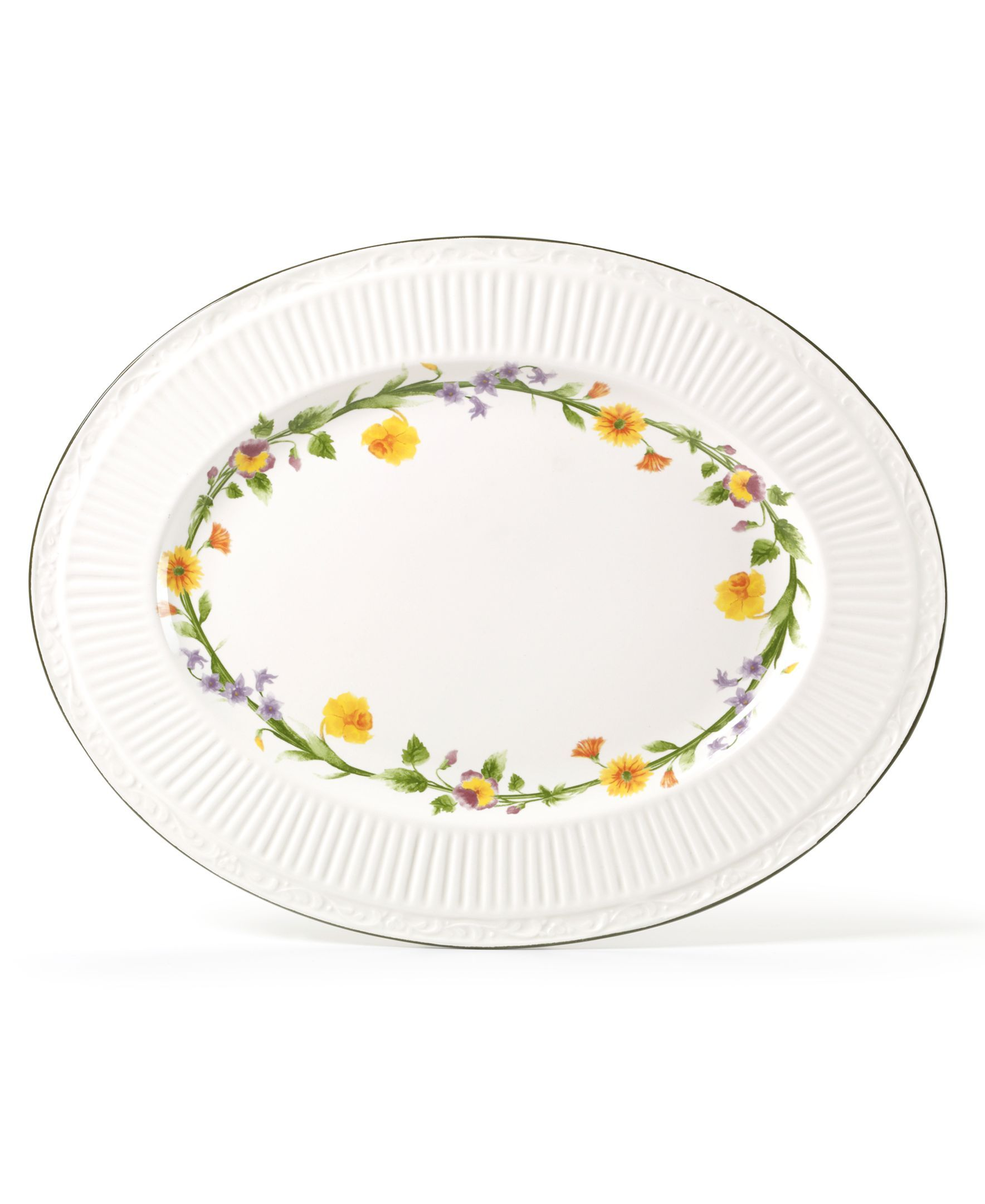 Mikasa Dinnerware, Italian Meadow Oval Platter