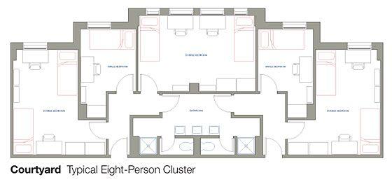 Httpwwwhousinguiceduhallscty Studio Pinterest Hall - Cluster home floor plans