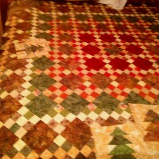 Tree quilt nine patch