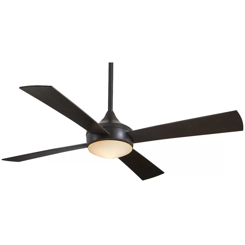 52 Aluma Wet 4 Blade Standard Ceiling Fan With Remote Control And Light Kit Included Ceiling Fan Ceiling Fan With Remote Outdoor Ceiling Fans