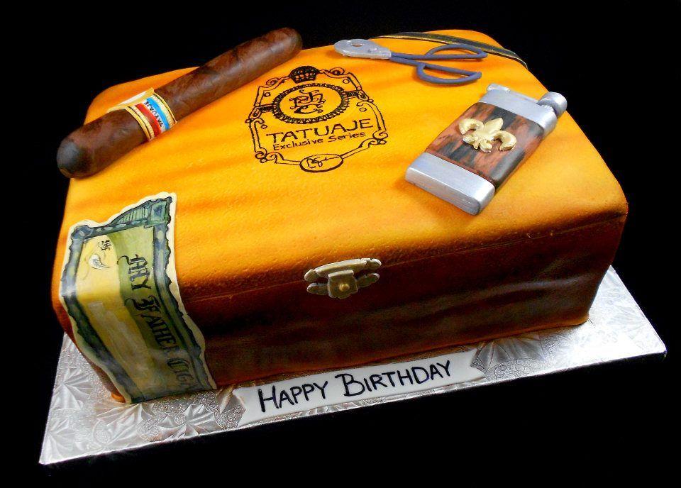 Cigar Box cake | Birthday Cakes in 2019 | Cigar cake, Cake, Cigar ...