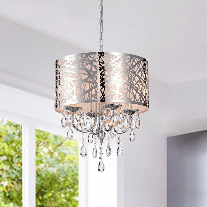 Von 4 Light Crystal Chandelier | Crystal chandelier bathroom