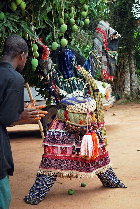 Igbo Mmanwu Masquerade During Annual New Yam Festival Akokwa