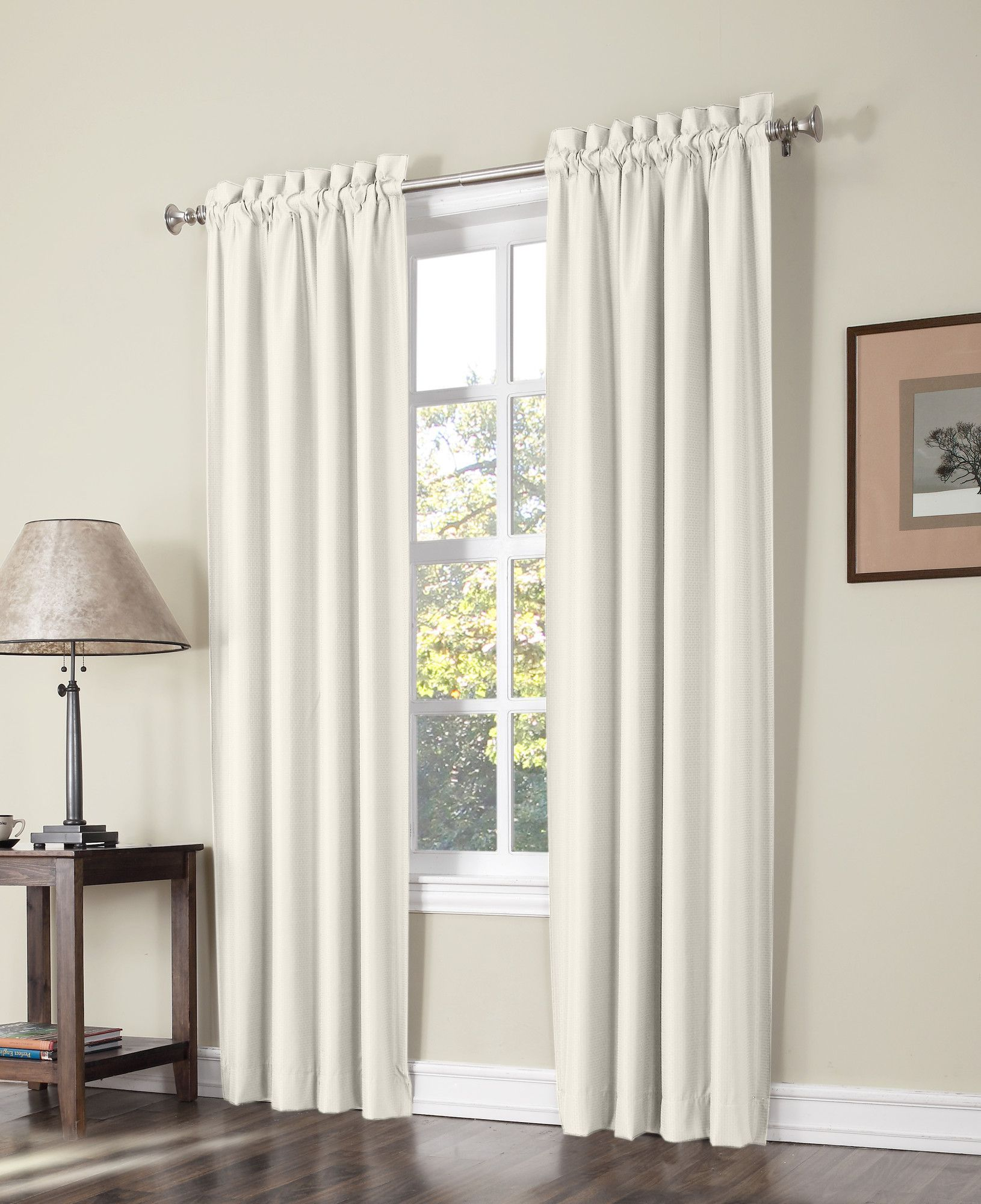 Plainfield Thermal Lined Rod Pocket Curtain Panel Pair Curtains